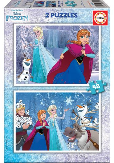 Puzzle 2 in 1 (48+48 piese) Frozen