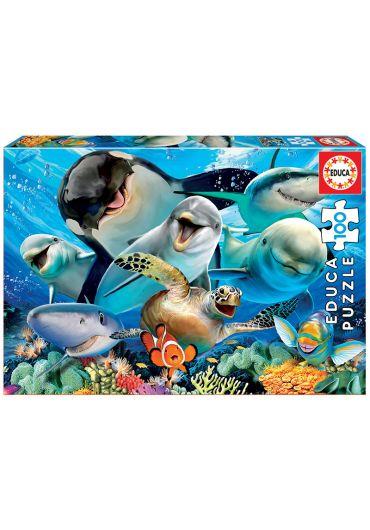 Puzzle 100 Piese Underwater Selfie