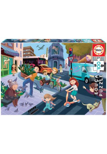 Puzzle 100 Piese In The City