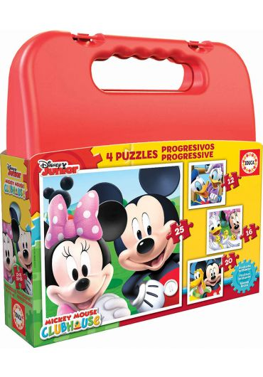 Puzzle Progressive 4 in 1 (12+16+20+25 piese) Mickey Mouse