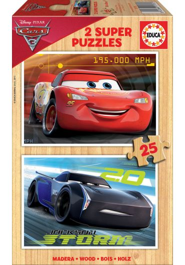 Puzzle 2 in 1 (25+25 piese) Cars 3