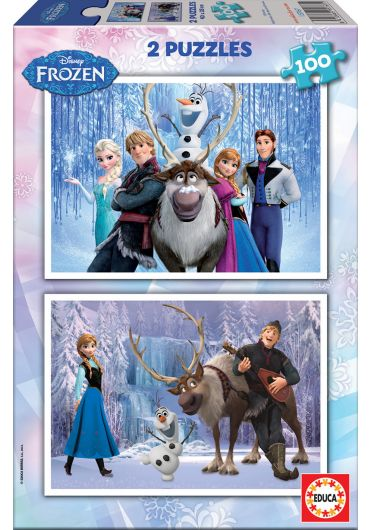 Puzzle 2 in 1 (100+100 piese) Frozen