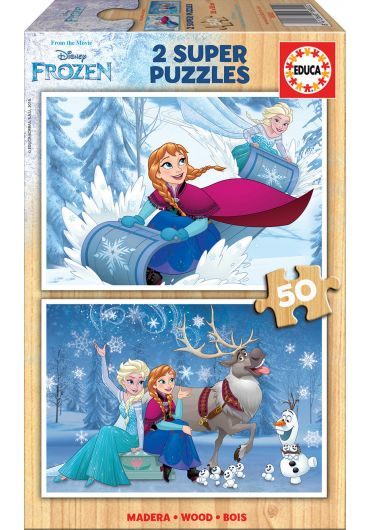 Puzzle 2 in 1 (50+50 piese) Frozen