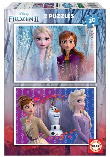 Puzzle 2 in 1 (20+20 piese) Frozen 2
