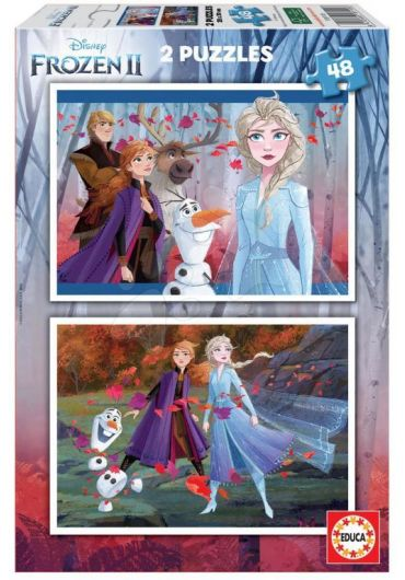Puzzle 2 in 1 (48+48 piese) Frozen 2