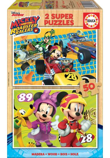 Puzzle 2 in 1 (50+50 piese) Mickey and The Roadster Races