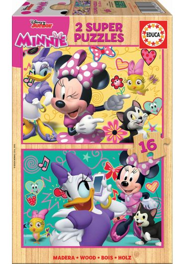 Puzzle 2 in 1 (16+16 piese) Minnie Happy Helpers
