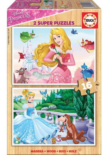 Puzzle 2 in 1 (16+16 piese) Disney Princess