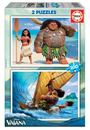 Puzzle 2 in 1 (100+100 piese) Vaiana/Moana