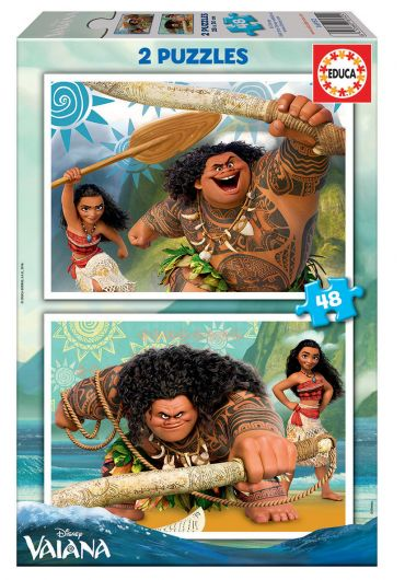 Puzzle 2 in 1 (48+48 piese) Vaiana/Moana