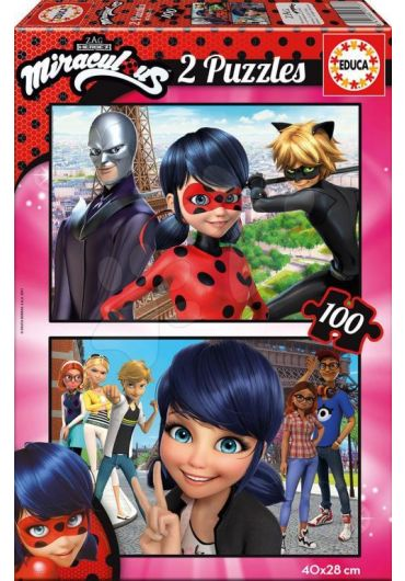 Puzzle 2 in 1 (100+100 piese) Ladybug