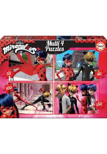 Puzzle 4 in 1 (50+80+100+150 piese) Ladybug