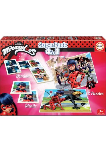 Puzzle Superpack 4 in 1 Ladybug
