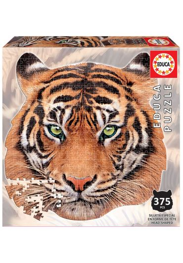 Puzzle 375 piese Tiger Animal Face Shaped
