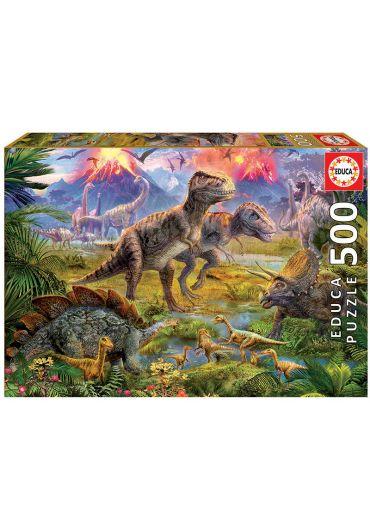 Puzzle 500 piese Dinosaur Gathering