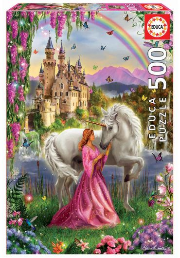 Puzzle 500 piese Fairy and Unicorn