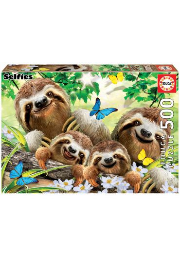 Puzzle 500 piese Sloth Family Selfie