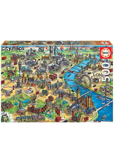 Puzzle 500 piese London Map