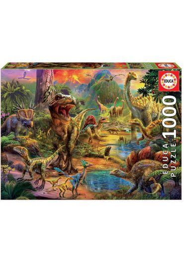 Puzzle 1000 piese Land of Dinosaurs