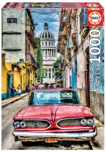 Puzzle 1000 piese Vintage Car in old Havana