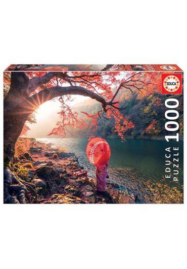 Puzzle 1000 piese Sunrise in Katsura River