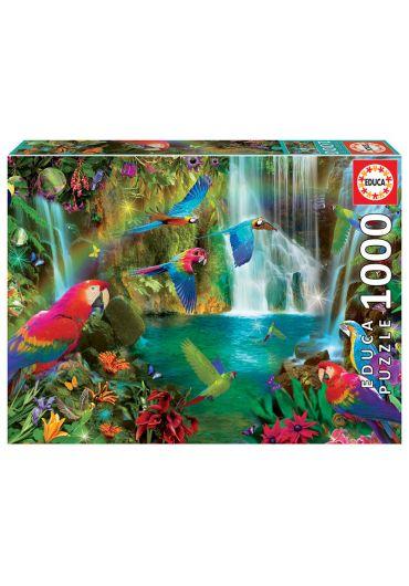 Puzzle 1000 piese Tropical Parrots