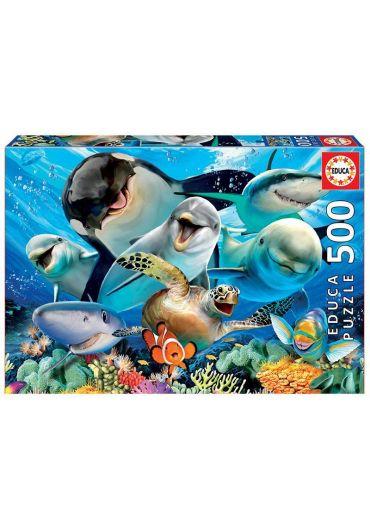Puzzle 500 piese Underwater Selfies