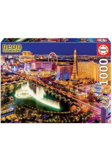 Puzzle 1000 piese Neon Fluorescent Las Vegas