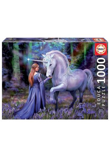 Puzzle 1000 piese Bluebell Woods, Anne Stokes