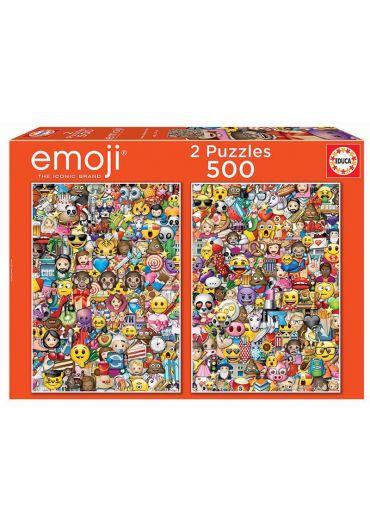 Puzzle 2 in 1  (500+500 piese) Emoji
