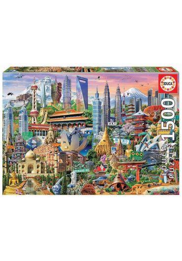 Puzzle 1500 piese Asia Landmarks