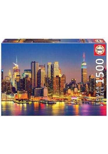 Puzzle 1500 piese Manhattan at Night