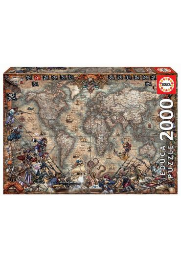 Puzzle 2000 piese Pirates Map