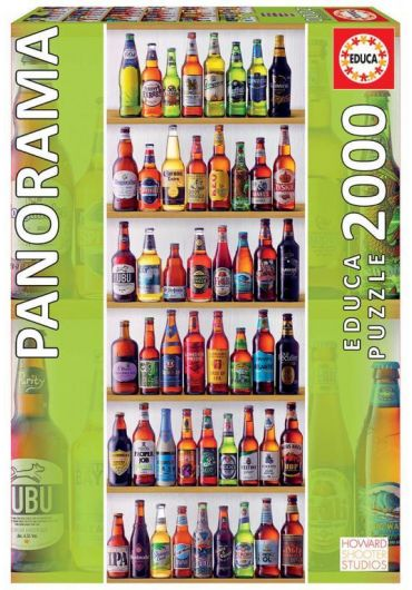 Puzzle Panoramic 2000 piese World Beers