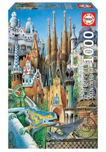 Puzzle Miniature 1000 piese Gaudi Collage