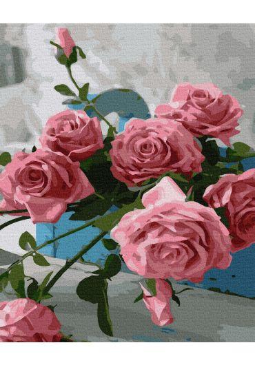 Set Picturi pe numere, Acuarello, 40X50 cm - Pink Roses