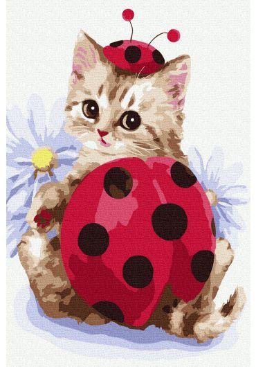 Set Picturi pe numere, Acuarello, 20X30 cm - Ladybug