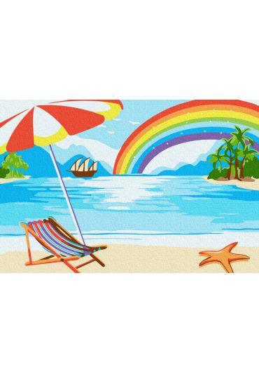 Set Picturi pe numere, Acuarello, 20X30 cm - Summer Rainbow