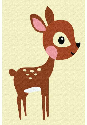 Set Picturi pe numere, Acuarello, 20X30 cm - Happy Deer