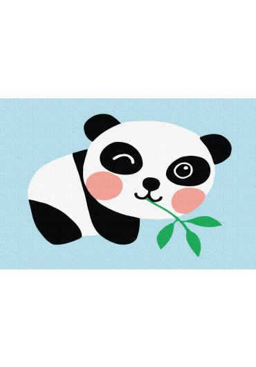 Set Picturi pe numere, Acuarello, 20X30 cm - Panda