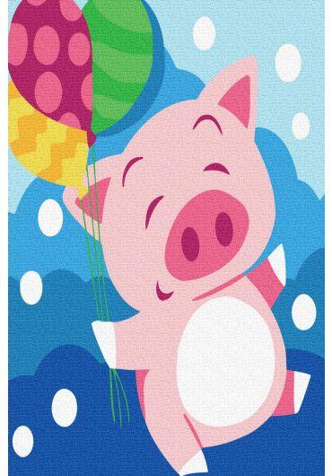 Set Picturi pe numere, Acuarello, 20X30 cm - Happy Pig