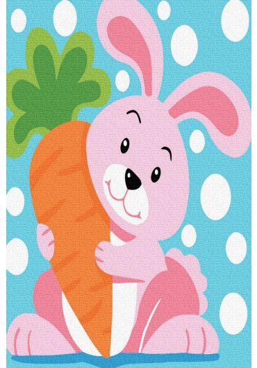 Set Picturi pe numere, Acuarello, 20X30 cm - Pink Bunny