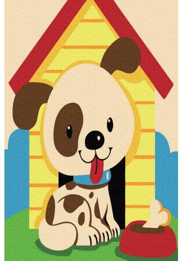 Set Picturi pe numere, Acuarello, 20X30 cm - Puppy
