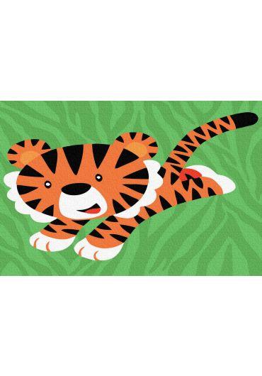 Set Picturi pe numere, Acuarello, 20X30 cm - Tiger