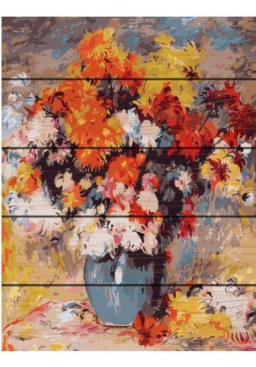 Set Picturi pe numere lemn, Acuarello, 40X50 cm - Painting Flowers