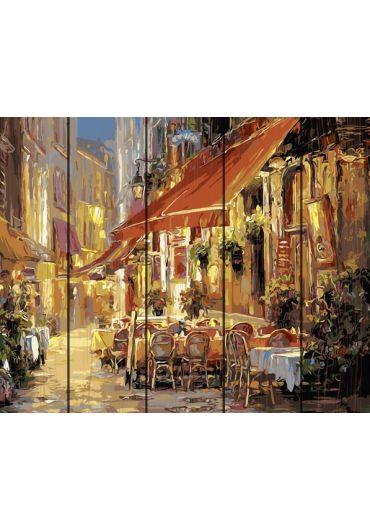 Set Picturi pe numere lemn, Acuarello, 40X50 cm - Walking in the city