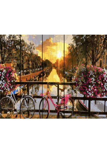Set Picturi pe numere lemn, Acuarello, 40X50 cm - Amsterdam