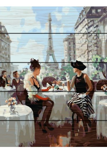 Set Picturi pe numere lemn, Acuarello, 40X50 cm - Paris