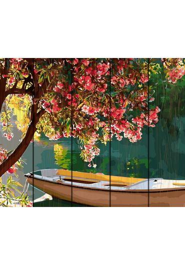 Set Picturi pe numere lemn, Acuarello, 40X50 cm - Spring