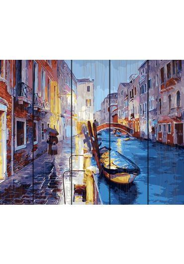 Set Picturi pe numere lemn, Acuarello, 40X50 cm - Venice